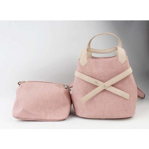 "Handtasche ""Salome"" rosa/taupe"