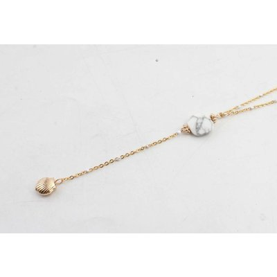 "Ketting ""Sally"" goud/wit"