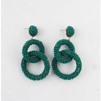 """Earring  """"Agboola"""" dark green"""