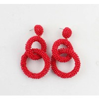 "Earring  ""Agboola"" red"