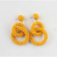 "Earring  ""Agboola"" yellow"