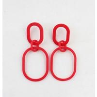 "Earring  ""Chelone"" red"