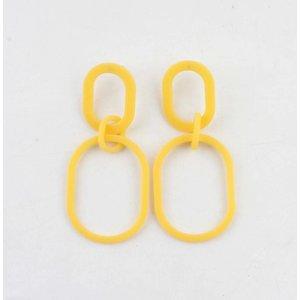 "Earring  ""Chelone"" yellow"