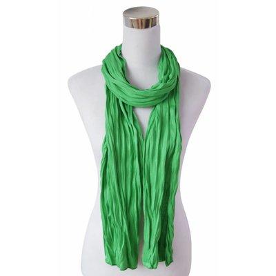 """Schal """"Uni Jersey S"""" grasgrün"""