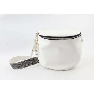 "Shoulder/waist bag  ""Dille"" white"