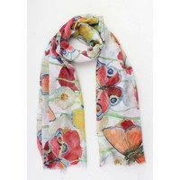 "Scarf ""Grace"" white / red"