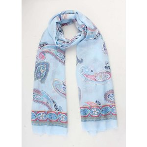 "Scarf ""Linsey"" light blue"