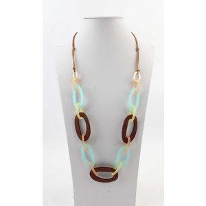 "Necklace  ""Taryn"" blue/brown"