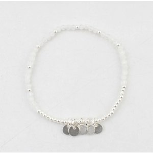 "Armband ""Teddy"" wit/zilver"
