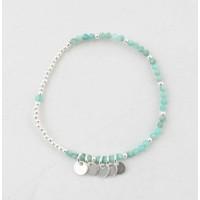 """Bracelet  """"Teddy"""" blue/silver"""