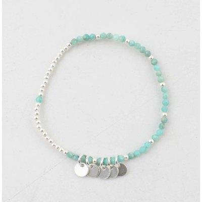 """Armband """"Teddy"""" blauw/zilver"""
