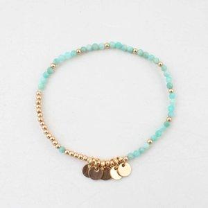 "Armband ""Teddy"" blauw/goud"