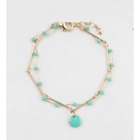 "Bracelet  ""Teuntje"" blue/gold"