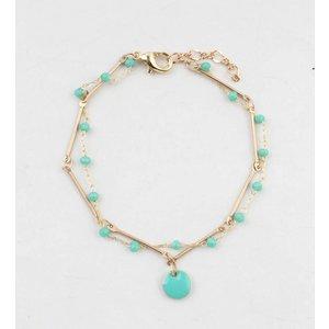 "Armband  ""Teuntje"" blau/gold"