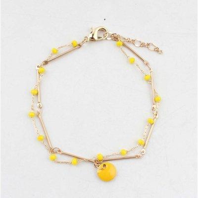 """Armband """"Teuntje"""" geel/goud"""