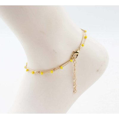 """Anklet  """"Teuntje"""" yellow/gold"""