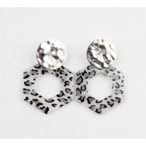 """Earring  """"Tiki"""" grey/silver"""