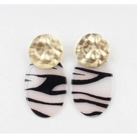 """Earring  """"Tilde"""" black/white gold"""