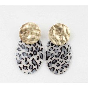 """Earring  """"Tilde"""" grey/gold"""