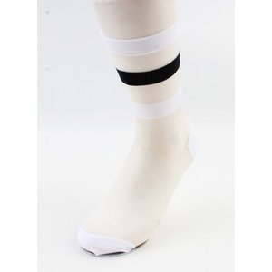 "Panty socks  ""Trix"" white, per 2pcs."
