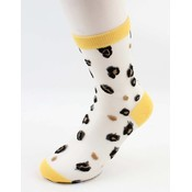 "Panty socks  ""Trui"" yellow, per 2pcs."