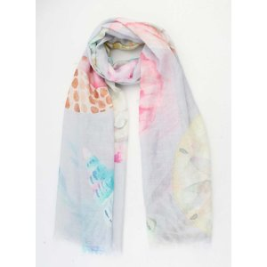 "Scarf  ""Vai"" light grey"