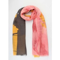 "Scarf  ""Vinthe"" yellow/red"