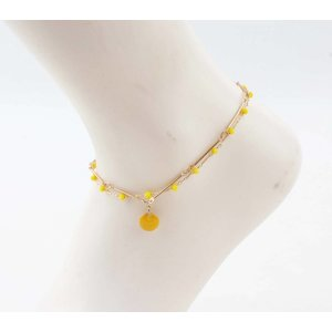 "Anklet  ""Teuntje"" yellow/gold"