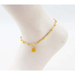 "Fußkette  ""Teuntje"" gelb/gold"
