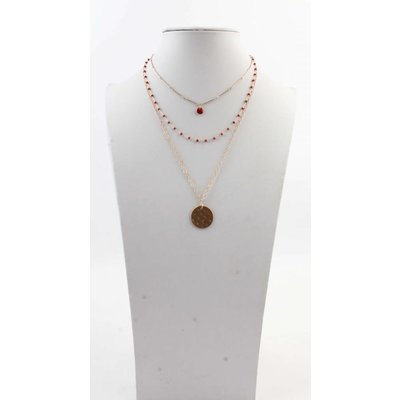 """Necklace  """"Tessy"""" red"""