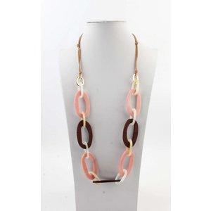 "Halskette  ""Taryn"" rosa/braun"
