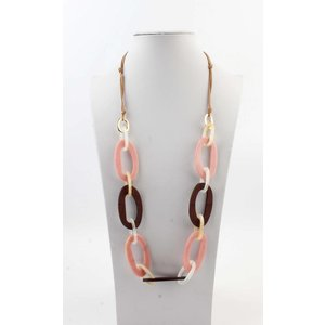 """Necklace  """"Taryn"""" pink/brown"""