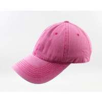 "Cap ""Washed denim"" pink"