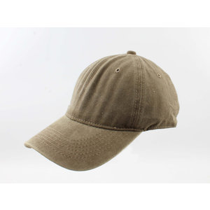 """Cap """"Washed denim"""" khaki"""