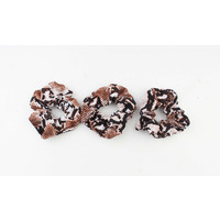 "Scrunchie ""Sidi"" brown, per 3pcs."