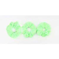 Scrunchie effen groen, per 3st.