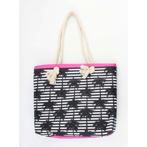 "Shopper ""Zaafarana"" black/pink"