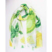 """Scarf """"Dongola"""" lime"""