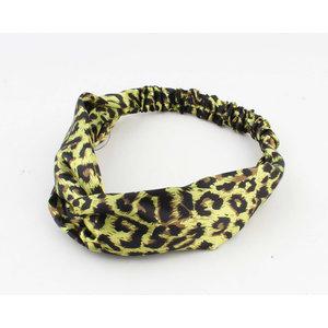 Stirnband Tiger Print gelb, doppelpack