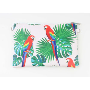 "Clutch ""Louga"" red / green"