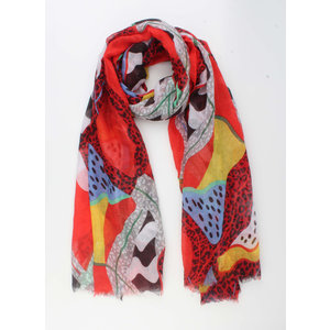 "Scarf ""Yoro"" red"