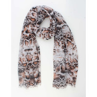 "Scarf ""Bugu"" black / brown"