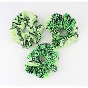 "Scrunchie ""Koutou"" groen"
