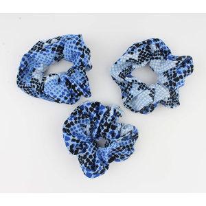 """Scrunchie """"Koutou"""" blue"""