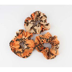 "Scrunchie ""Koutou"" oranje"