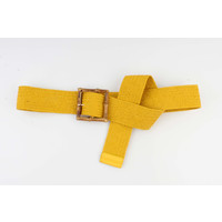 "Belt ""Ellene"" ocher yellow"