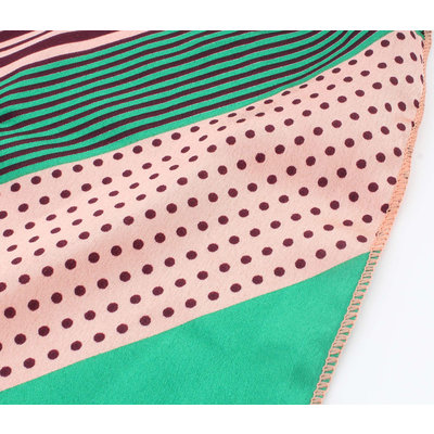 "Bandana ""Ivanga"" green / pink"