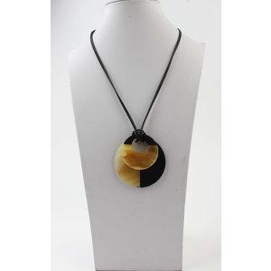 "Necklace ""Matadi"" black / brown"