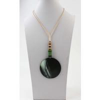 "Necklace ""Batela"" green"