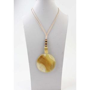 """Necklace """"Batela"""" yellow"""